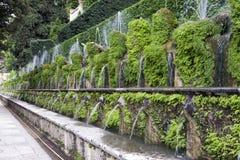 Fuente y jardín, Tivoli, Italia de Este16th-century del chalet d ' Sitio del patrimonio mundial de la UNESCO fotos de archivo libres de regalías