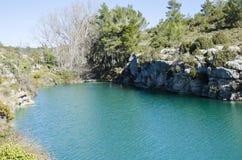 Fuente y pantano de Camarillas Foto de archivo