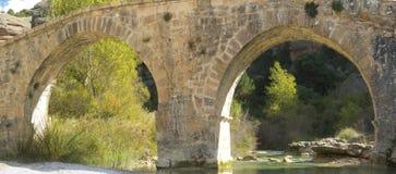 Fuentebaños Bridge, Vero River. Stock Images