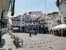 Fuenterrabia, Guipuzcoa街道  西班牙 图库摄影
