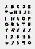 Fuentes alfabéticas Imagen de archivo libre de regalías