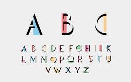 Fuentes alfabéticas Fotografía de archivo libre de regalías