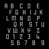 Fuentes alfabéticas y números Fotografía de archivo libre de regalías
