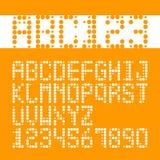 Fuentes alfabéticas y números Imagenes de archivo