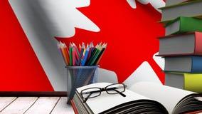 Fuentes canadienses de la bandera y de escuela