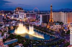 Fuentes de Bellagio en Las Vegas imagen de archivo
