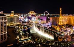 Fuentes de Bellagio de Las Vegas fotografía de archivo libre de regalías