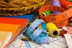 Fuentes de costura Imagen de archivo