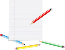 Fuentes de escuela ilustración del vector