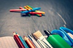 Fuentes de escuela Imágenes de archivo libres de regalías