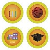 Fuentes de escuela Imagen de archivo