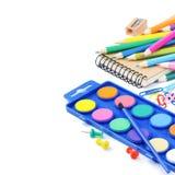 Fuentes de escuela coloridas Fotografía de archivo libre de regalías