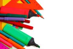 Fuentes de escuela en el fondo blanco listo para su diseño imagen de archivo