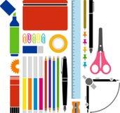 Fuentes de la escuela o de oficina ilustración del vector