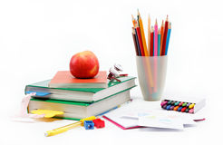 Fuentes de la escuela y de oficina Imágenes de archivo libres de regalías