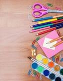 Fuentes de la escuela y de oficina Fotos de archivo libres de regalías