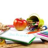 Fuentes de la escuela y de oficina De nuevo a escuela Imágenes de archivo libres de regalías