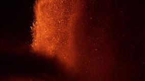 Fuentes de la lava del volcán metrajes