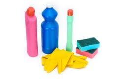 Fuentes de limpieza Foto de archivo libre de regalías