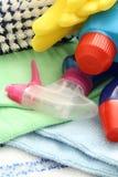 Fuentes de limpieza Foto de archivo