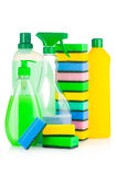 Fuentes de limpieza de la casa Foto de archivo libre de regalías