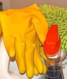 Fuentes de limpieza del hogar y de la oficina Fotografía de archivo libre de regalías