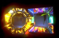 Fuentes de luz del color Imágenes de archivo libres de regalías