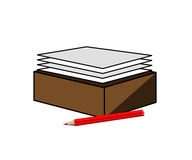 Fuentes de oficina ilustración del vector