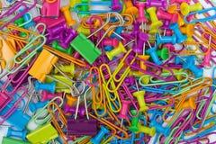 Fuentes de oficina coloridas imagen de archivo