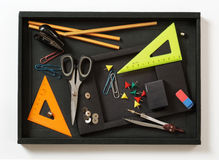 Fuentes de oficina coloridas Fotografía de archivo libre de regalías