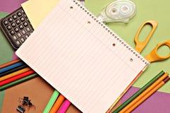 Fuentes de oficina de escuela Fotos de archivo libres de regalías