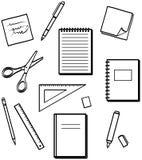 Fuentes de oficina - ilustraciones del vector Imagen de archivo libre de regalías