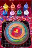Fuentes del arte de la vuelta Imagen de archivo libre de regalías