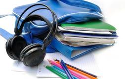 Fuentes del auricular y de escuela Fotografía de archivo