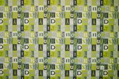 Fuentes del fondo Fondo diseñado Collage de Digitaces hecho de recortes de periódico El extracto pone letras al fondo, illustra g stock de ilustración