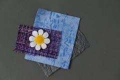 Fuentes del libro de recuerdos de Grey Blue Purple Daisy Flower Fotografía de archivo