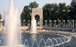 Fuentes en el monumento de la Segunda Guerra Mundial Imagen de archivo