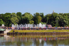 Fuentes en el parque de Tsaritsyno en Moscú Fotos de archivo libres de regalías