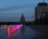 Fuentes en los argumentos legislativos Edmonton, Alberta Imagenes de archivo
