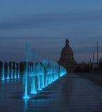 Fuentes en los argumentos legislativos Edmonton, Alberta Foto de archivo libre de regalías