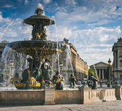 Fuentes en Place de la Concord, París Fotografía de archivo libre de regalías