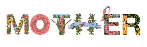 Fuentes para el día de madres ilustración del vector
