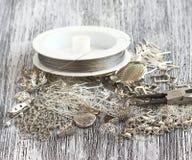 Fuentes para la joyería de la plata Imagen de archivo