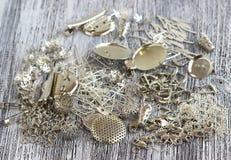 Fuentes para la joyería de la plata Imágenes de archivo libres de regalías