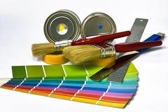 Fuentes para pintar Imagen de archivo libre de regalías