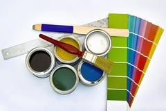 Fuentes para pintar fotografía de archivo