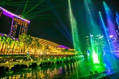 Fuentes que bailan Singapur Imagen de archivo libre de regalías