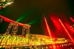 Fuentes Singapur de la plaza del evento Fotografía de archivo