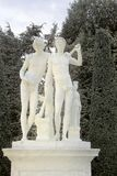 Fuentes y esculturas de Versalles en caída Imágenes de archivo libres de regalías