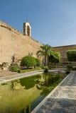 Fuentes y jardines del Alcazaba Fotos de archivo